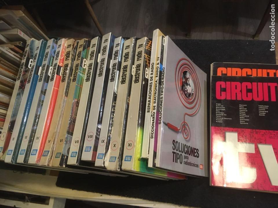 16 LIBROS PUBLICACIONES ELECTRONIA, RADIO TV , DICCIONARIO DE ELECTRONICA. VER FOTOS (Radios, Gramófonos, Grabadoras y Otros - Catálogos, Publicidad y Libros de Radio)