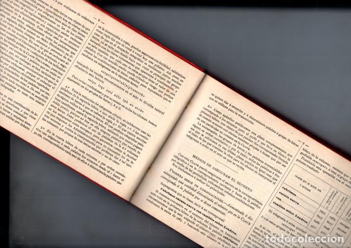 Radios antiguas: PELLIGERO : CLAVE TELEGRÁFICA PARA SECRETO Y ECONOMÍA DE CORRESPONDENCIA (1893) - Foto 2 - 244182740
