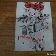 Radios antiguas: REVISTA CATALOGO AÑOS 50 GRUNDIG VER TODAS LAS FOTOS. Lote 244645680