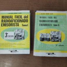 Radios antiguas: MANUAL FACIL DEL RADIOAFICIONADO EMISORISTA. DOS TOMOS. Lote 244971850