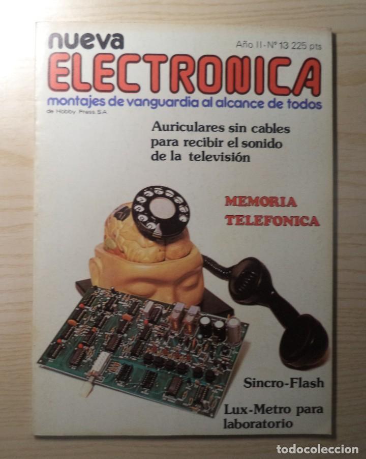 REVISTA NUEVA ELECTRONICA Nº 13 (Radios, Gramófonos, Grabadoras y Otros - Catálogos, Publicidad y Libros de Radio)