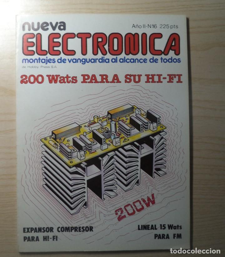 REVISTA NUEVA ELECTRONICA Nº 16 (Radios, Gramófonos, Grabadoras y Otros - Catálogos, Publicidad y Libros de Radio)