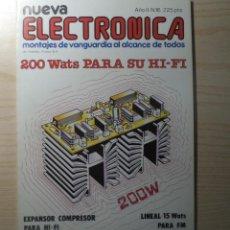 Radios antiguas: REVISTA NUEVA ELECTRONICA Nº 16. Lote 245509095