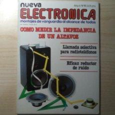 Radios antiguas: REVISTA NUEVA ELECTRONICA Nº 19. Lote 245509110