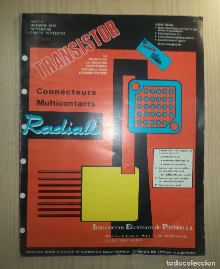 REVISTA TRANSISTOR Nº 43 (Radios, Gramófonos, Grabadoras y Otros - Catálogos, Publicidad y Libros de Radio)