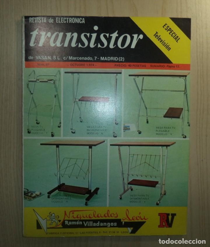 REVISTA TRANSISTOR Nº 67 (Radios, Gramófonos, Grabadoras y Otros - Catálogos, Publicidad y Libros de Radio)
