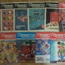 Radios antiguas: LOTE 11 REVISTAS 'RESISTOR' ENTRE LOS AÑOS 1981 Y 1994. Lote 246033175