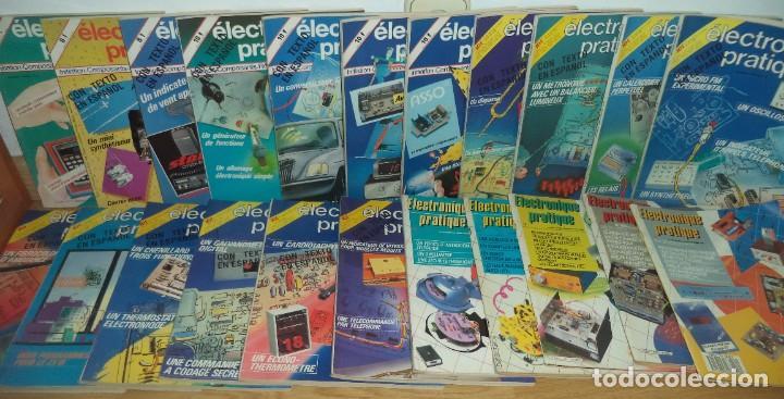 LOTE 22 REVISTAS 'ELECTRONIQUE PRATIQUE' ENTRE LOS AÑOS 1980 Y 1987 (Radios, Gramófonos, Grabadoras y Otros - Catálogos, Publicidad y Libros de Radio)