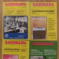 Radios antiguas: LOTE 4 REVISTAS 'RADIORAMA' ENTRE LOS AÑOS 1975 Y 1981. Lote 246129295
