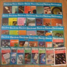 Radios antiguas: LOTE 37 REVISTAS 'ELECTRONICA' ENTRE LOS AÑOS 1976 Y 1987. Lote 246131860