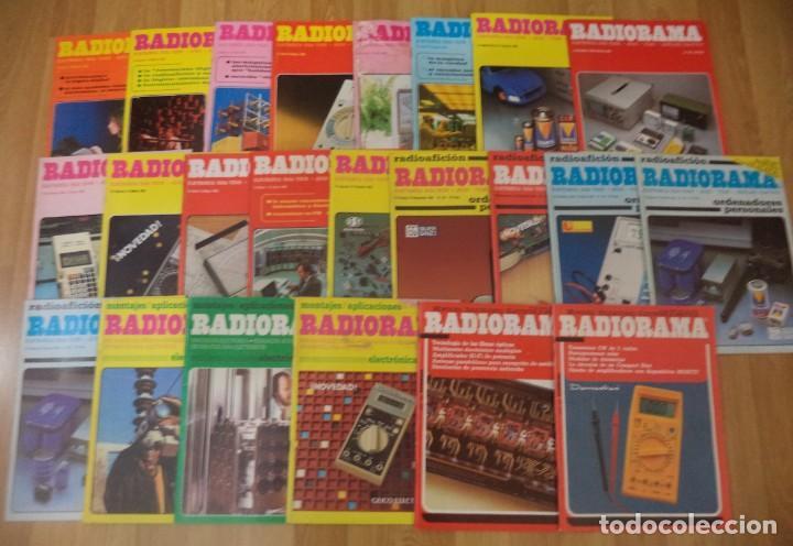 LOTE 23 REVISTAS 'RADIORAMA' ENTRE LOS AÑOS 1982 Y 1991 (Radios, Gramófonos, Grabadoras y Otros - Catálogos, Publicidad y Libros de Radio)