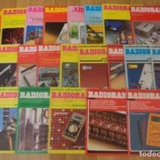 Radios antiguas: LOTE 23 REVISTAS 'RADIORAMA' ENTRE LOS AÑOS 1982 Y 1991. Lote 246133575