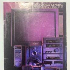 Rádios antigos: CATÁLOGO GENERAL OTOÑO INVIERNO 1990 SONY EQUIPOS HIFI DISCMAN CD CAMARA DE VIDEO. Lote 247342855
