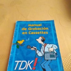 Radios antiguas: M-24 LIBRO MANUAL DE GRABACION EN CASSETTES TDK NOW AND FOREVER. Lote 248142625