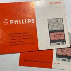 Radio antiche: MANUAL DE INSTRUCCIONES CASSETTE PHILIPS EL 3302. Lote 249554950