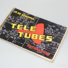 Radios antiguas: TELE TUBES (1958) - R. DE SCHEPPER - CARACTERÍSTICAS DE T.R.C. Y VÁLVULAS PARA RADIO Y TV.. Lote 251160340