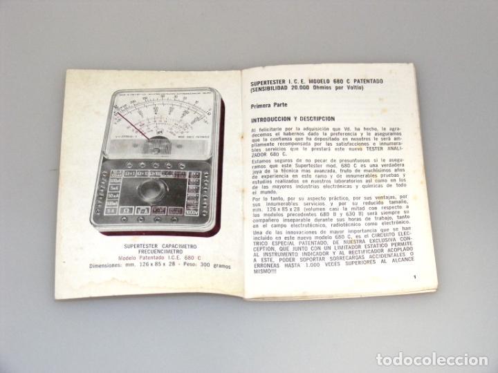 Radios antiguas: MANUAL DE INSTRUCCIONES DEL SUPERTESTER I.C.E. 680C - BUEN ESTADO. - Foto 2 - 251198250