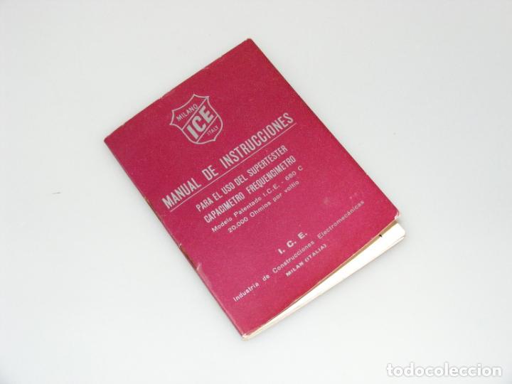 MANUAL DE INSTRUCCIONES DEL SUPERTESTER I.C.E. 680C - BUEN ESTADO. (Radios, Gramófonos, Grabadoras y Otros - Catálogos, Publicidad y Libros de Radio)