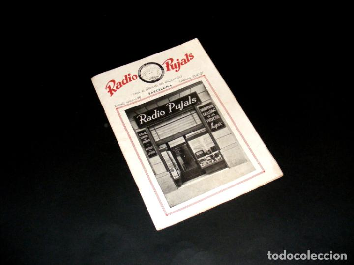RADIO PUJALS - PUBLICIDAD Y ESQUEMAS MAGESTIC - BUEN ESTADO - VER DESCRIPCIÓN. (Radios, Gramófonos, Grabadoras y Otros - Catálogos, Publicidad y Libros de Radio)