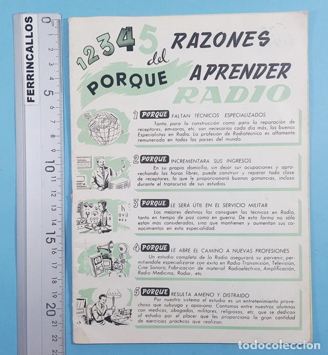 12345 RAZONES DEL PORQUE APRENDER RADIO, ESCUELA RADIO MAYMO, FORMATO REVISTA 32 PAGINAS (Radios, Gramófonos, Grabadoras y Otros - Catálogos, Publicidad y Libros de Radio)