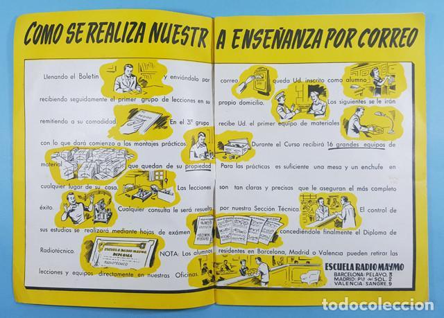 Radios antiguas: 12345 RAZONES DEL PORQUE APRENDER RADIO, ESCUELA RADIO MAYMO, FORMATO REVISTA 32 PAGINAS - Foto 2 - 253412740