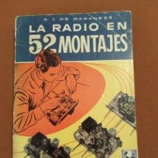 Radios antiguas: 1958 LA RADIO EN 52 MONTAJES R.J. DARKNESS. Lote 253914260