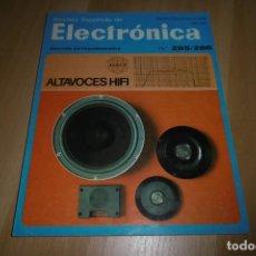 Radios antiguas: REVISTA ESPAÑOLA DE ELECTRONICA Nº ESPECIAL 285 286 AGOSTO-SEPTIEMBRE 1978. Lote 254218755