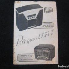 Radios antiguas: BLOQUES URI-RADIOGRAMOLAS-CATALOGO PUBLICIDAD-VER FOTOS-(K-2199). Lote 254426590
