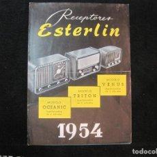 Radios antiguas: RADIOS-RECEPTOR ESTERLIN-AÑO 1954-MODELOS OCEANIC TRITON VENUS-CATALOGO PUBLICIDAD-VER FOTOS(K-2212). Lote 254433955