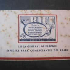 Radios antiguas: BARCELONA-RIFE-ACCESORIOS DE RADIO Y MATERIAL ELECTRICO-CATALOGO PUBLICIDAD-VER FOTOS-(K-2214). Lote 254434525