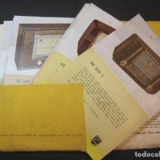 Radios antiguas: PHILIPS RADIO-CATALOGO PUBLICIDAD CON LAMINAS DE DIFERENTES MODELOS-VER FOTOS-(K-2229). Lote 254438975