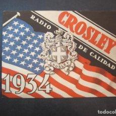 Radios antiguas: CROSLEY-RADIO DE CALIDAD-AÑO 1934-CATALOGO PUBLICIDAD-VER FOTOS-(K-2230). Lote 254439280