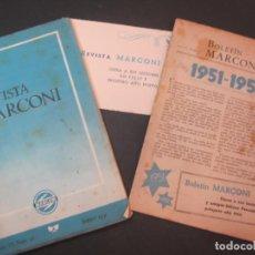 Radios antiguas: REVISTA MARCONI-ENERO 1952-REVISTA +BOLETIN-GRABADO NIKOLA TESLA-VER FOTOS-(K-2231). Lote 254439585