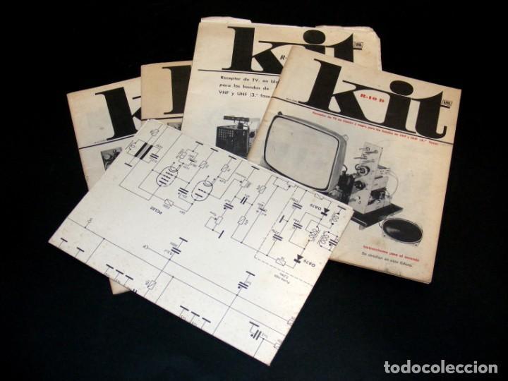 AFHA - KIT R-10/A, B, C Y D + ESQUEMA EXAMEN FINAL - TV EN B/N - VHF Y UHF - VER FOTOS ADICIONALES. (Radios, Gramófonos, Grabadoras y Otros - Catálogos, Publicidad y Libros de Radio)