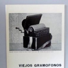 Radios antiguas: CATÁLOGO EXPOSICIÓN VIEJOS GRAMÓFONOS // 1969 // CARLOS AREAN // ATENEO DE MADRID. Lote 254755190