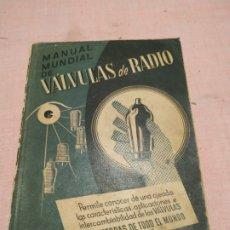 Radios antiguas: MANUAL MUNDIAL DE VALVULAS DE RADIO (O. LUND-JOHANSEN) 1953. Lote 255628060