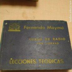 Radios antiguas: MAYMO. LECCIONES TEÓRICAS. Lote 255628700