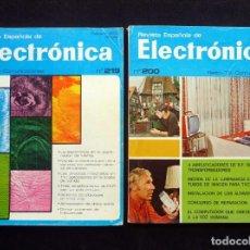 Radios antiguas: REVISTA ESPAÑOLA DE ELECTRÓNICA. AÑOS 1971-73. LOTE DE 2 REVISTAS. Lote 255674190