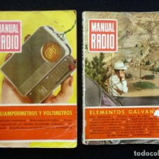Radios antiguas: LOTE 2 REVISTAS MANUAL RADIO, BRUGUERA. Nº 12 Y 28. 1953-55. Lote 255674320