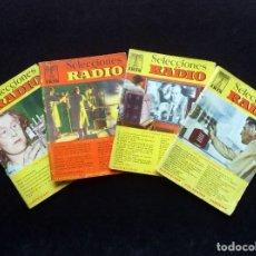 Radios antiguas: LOTE 4 REVISTAS IRIS, SELECCIONES DE RADIO. AÑOS 50. Lote 255674335