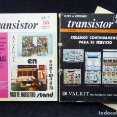 Radios antiguas: LOTE 2+1 REVISTAS DE ELECTRÓNICA TRANSISTOR. 1973-74. Lote 255674360