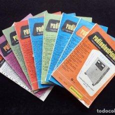 Radios antiguas: REVISTA RADIOELECTRICIDAD. LOTE 9 REVISTAS, 1956-68. Lote 255674380