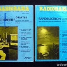 Radios antiguas: LOTE 2 REVISTAS RADIORAMA. 1975-76. Lote 255674435