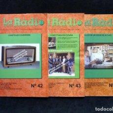 Radios antiguas: LOTE 3 REVISTAS LA RÀDIO D'ÈPOCA. BOLETÍN DE L'ASSOCIACIÓ CULTURAS AMICS DE LA RÀDIO A.C.A.R., 2003. Lote 255674500