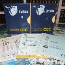 Radios antiguas: CURSO DE TELEVISIÓN POR CORRESPONDENCIA CCC. 2 ARCHIVADORES + SUPLEMENTOS + EXTRAS. 1961. Lote 255706240