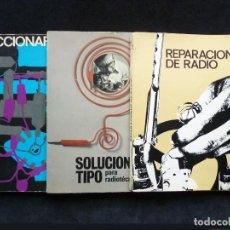 Radios antiguas: LOTE 3 PUBLICACIONES CURSO RADIOTÉCNICO AFHA. ELECTRÓNICA RADIO TV. 1971-73. Lote 255818665