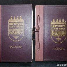 Radios antiguas: CURSO INSTITUTO TÉCNICO PRÁCTICO RADIO. INTEPRA. BARCELONA, 1955. 2 ARCHIVADORES. LEER. Lote 255842555