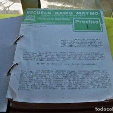 Radio antiche: CURSOS DE ESCUELA RADIO MAYMO PRÁCTICAS DEL 1 AL 37, DEL AÑO 1963. Lote 256944490