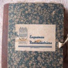 Radios antiguas: INSTITUTO TECNICO-PRACTICO BARCELONA, ESQUEMAS ANTIGUA RADIOELECTRICOS. Lote 257622970