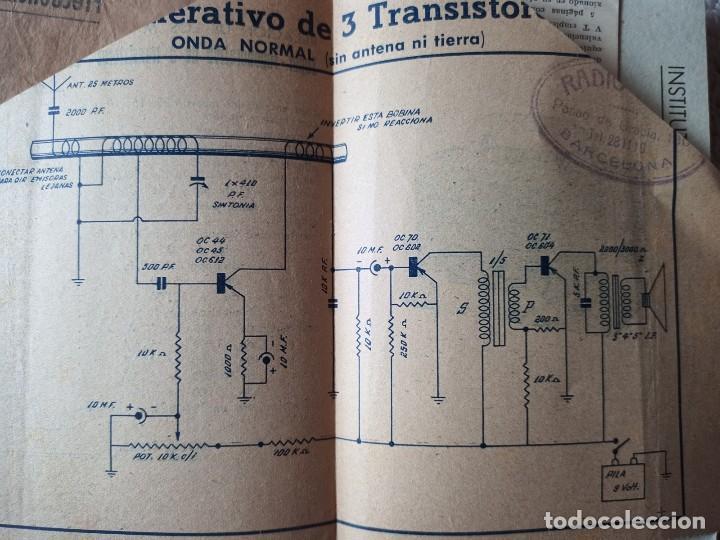 Radios antiguas: Instituto tecnico-practico Barcelona, esquemas antigua radioelectricos - Foto 3 - 257622970